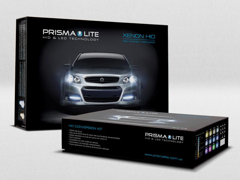 Prisma Lite - diseño Packaging